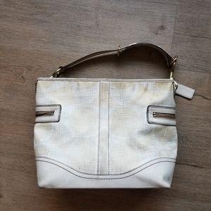SALE Coach legacy leather canvas hobo bag purse